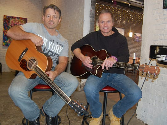 Local hit songwriters Dan Couch, left, and Tim James