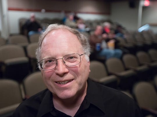Curt Schwanebeck, board member of the Grand Theater Foundation stands in the theater Wednesday, Dec. 16, 2015.