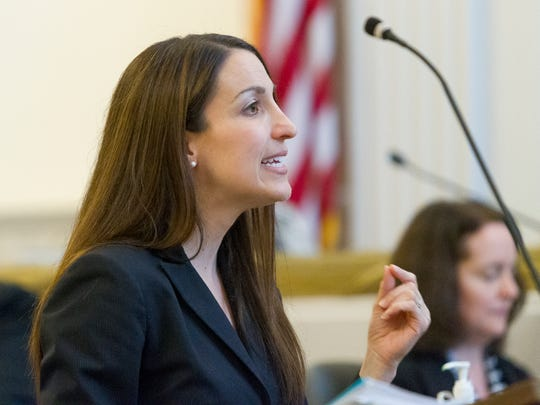 Assistant District Attorney Diane Lama makes her opening