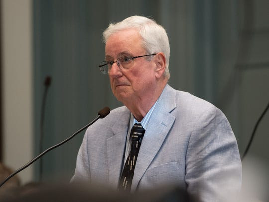 State Rep. Joseph E. Miro, R-Pike Creek, Valley addresses lawmakers concerning the Wilmington school redistricting bill at Legislative Hall in Dover on Wednesday. The measures passed the Democrat-led House with no Republican support.
