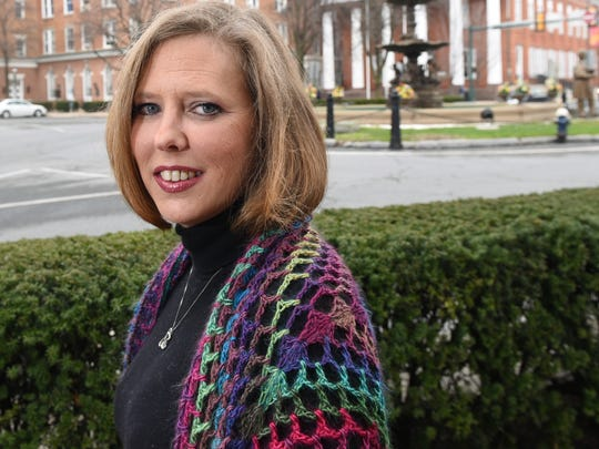 Tracy Hyatt is featured Tuesday, March 21, 2017 in downtown Chambersburg.