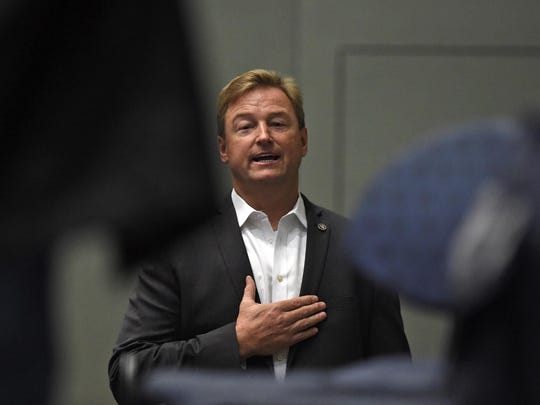Images from the town hall meeting with Senator Dean Heller and Congressman Mark Amodei at the Reno Sparks Convention Center on April 17, 2017.