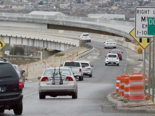 Drivers make their way from Sunland Park Drive onto