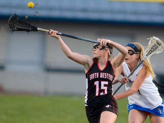 South Western at Kennard-Dale girls' lacrosse