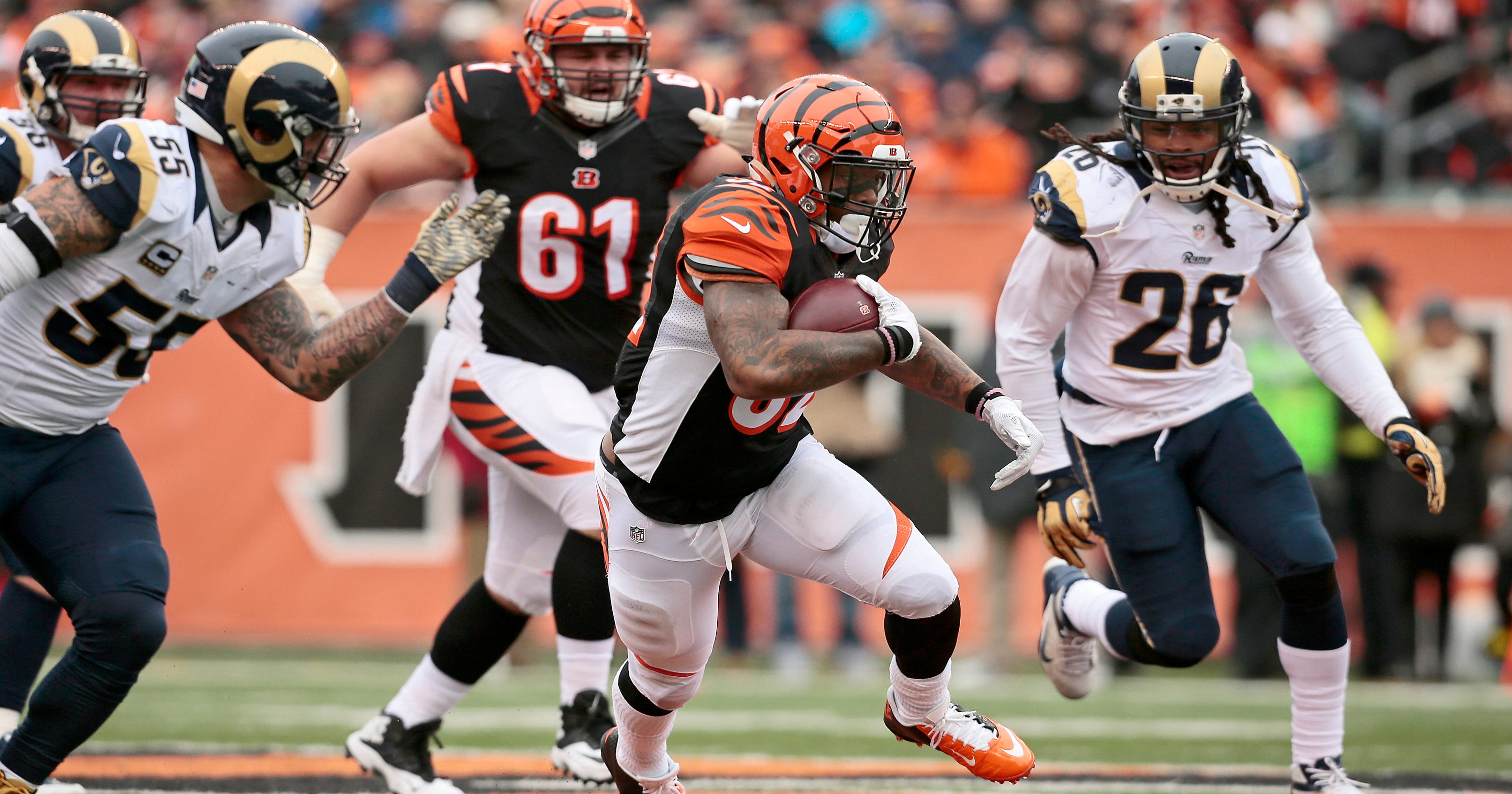6a98e67ab16 Bengals Walkthru  Turnt time for Jeremy Hill