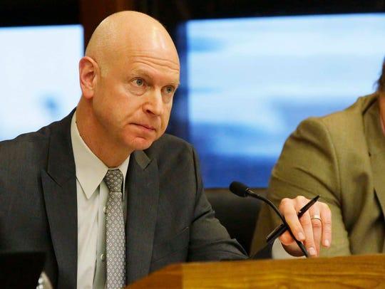 City of Sheboygan Administrator Darrell Hofland listens