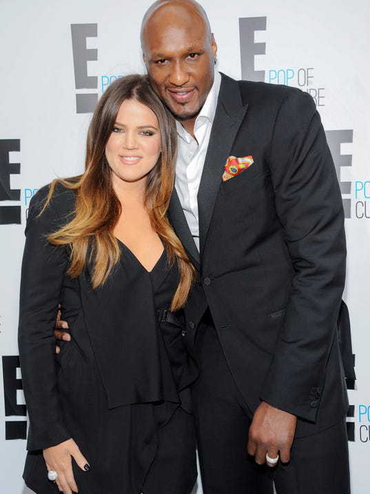 "Khloe Kardashian and Lamar Odom from the show ""Keeping Up With The Kardashians"" attend an E! Network upfront event at Gotham Hall on Monday, April 30, 2012 in New York."