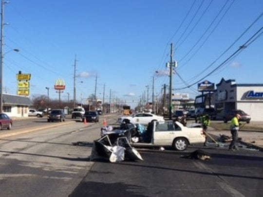 One person died in a crash in the northbound lanes