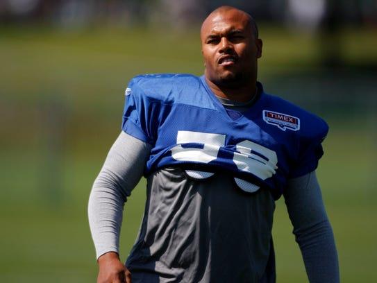 Aug 3, 2009; Albany, NY, USA; New York Giants linebacker