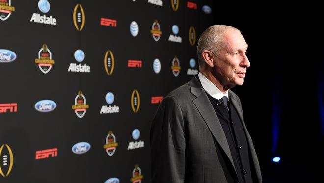 President of ESPN Inc. John Skipper attends the ESPN College Football Playoffs Night of Champions at Centennial Hall in Dallas, Texas.