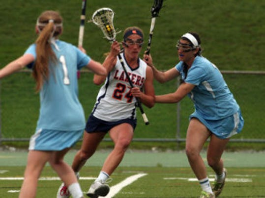 Mountain Lakes' Jackie Perry (24) has been selected to the 2014 Under Armour All-America Lacrosse Classic.