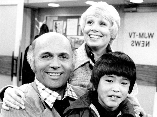 Gavin McLeod, Joyce Bulifant, and Michael Higa in Mary