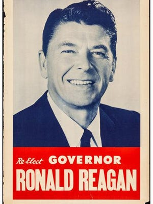An image of the poster from Reagan's 1970 bid for reelection as California Governor.