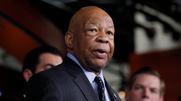 Rep. Elijah Cummings, D-Md. speaks during a news conference on Capitol Hill in Washington.