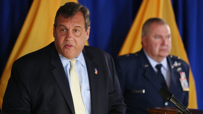 The administration of Gov. Chris Christie, seen in September, is in a dispute with the state's largest teachers union over health care costs.