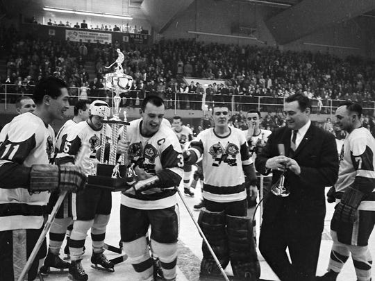 The original franchise at McMorran Arena — the Flags, who were the Wings from 1971-74 — won three Turner Cups as International Hockey League champions.