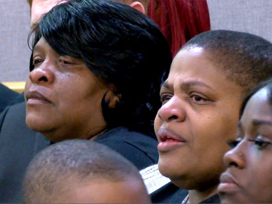 Prize Johnson's family and friends filled the courtroom
