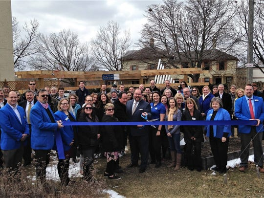 A ribbon cutting was held to celebrate the opening of the Sheboygan Rotary Club's Musical Garden, a new exhibit, on April 9 at the Above & Beyond Children's Museum. Cutting the ribbon was Rotary President Steve Scharrer with Immediate Past President Carl Rickmeier III.