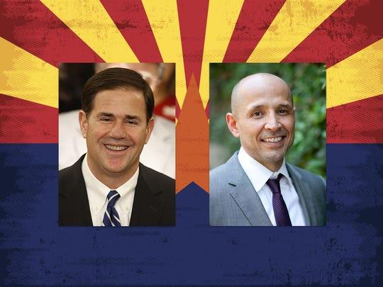 Doug Ducey enfrenta a David García en las elecciones de noviembre.
