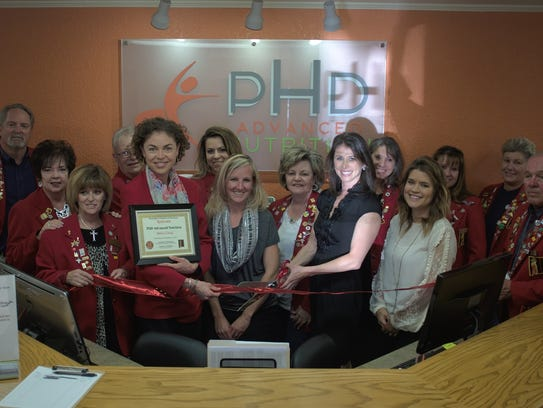 Ribbon cutting at PHD Advanced Nutrition located at 904 E. 20th St. Ste. A.