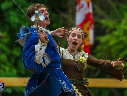 Performers play parts at the Tennessee Medieval Faire