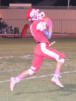 Cobre's Dominic Redwine had a few big catches against Hatch last week. He's been a good staple at being one of quarterback Andru Sanchez's favorite targets.