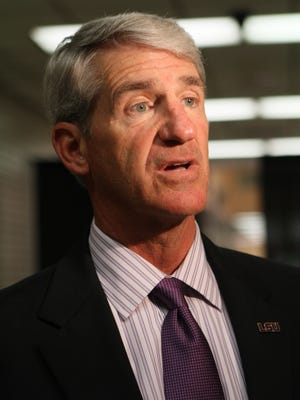 Joe Alleva is shown at the 2014 LSU Tiger Tour in Monroe.