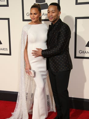 Chrissy and John owned the red carpet at  that year's