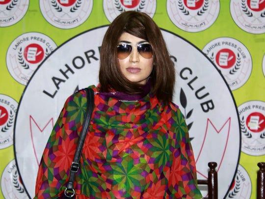 Pakistani social media celebrity Qandeel Baloch at