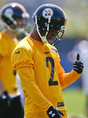 Pittsburgh Steelers cornerback Malik Boynton (2) during their NFL football rookie mini camp, Saturday, May 12, 2018, in Pittsburgh.