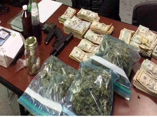 What was confiscated from a vehicle driven by Darrius