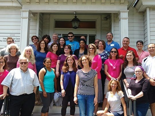 """""""More than thirty-five New Jersey middle and high school teachers recently participated in the Master Teacher Institute in Holocaust Education's intensive summer course """"History of the Holocaust"""" and an advanced seminar in Holocaust education, from June 26 through June 30, 2017, through the Allen and Joan Bildner Center for the Study of Jewish Life at Rutgers University. Sponsored by the Herbert and Leonard Littman Families Holocaust Resource Center, this program is free and offers middle and high school teachers access to the region's best resources in Holocaust education while earning professional development credits."""""""