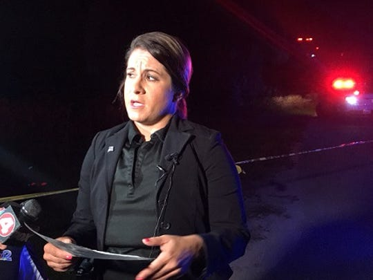 Lee County Sheriff'sOffice public information office Sgt. Anita Iriarte talks about an officer-involved shooting Saturday in the Tice area of east Lee County.