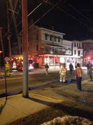 Units responded to a fire on South Queen Street in