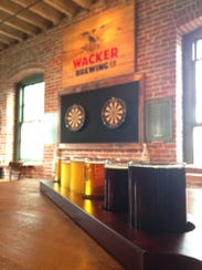 A flight of beers at Wacker Brewing Co. in Lancaster