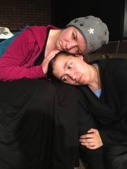 Kelly Baffy (left) and Rachel Richardson play mother