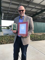 """Gavin Kogan received the """"best pitch"""" award at the"""