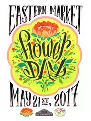 The poster for the 2017 Eastern Market Flower Day on