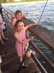 Steve Reilly's daughters Jessica, 7, and Olivia, 5,