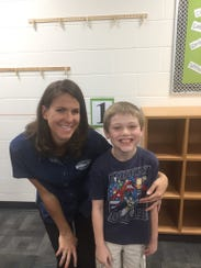 Candace's grandson, Rowen, and his fourth-grade teacher,