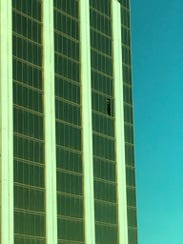 The view of the Mandalay Bay Resort and Casino from