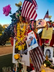 A picture of Bill Wolfe Jr.'s memorial at the Remembrance