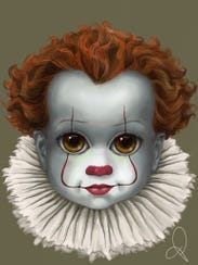 "Pennywise from recent ""IT"" movie"