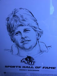 Kenny Davidson was inducted into the ACU Sports Hall