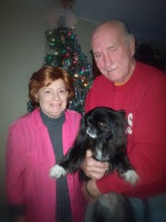 Jerri Blomgren with her husband, Howard, and dog, Henry.