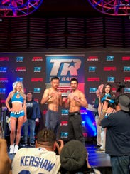 The weigh-in Thursday at the Lex at the GSR.