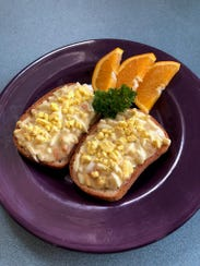 Grandma's Goldenrod Eggs, creamed eggs served over