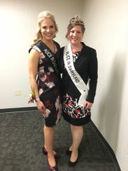 Kaitlyn Riley (right) is the 71st Alice in Dairyland.