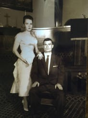 A young Tom Kay with his wife, Shirley Mae Leupe.