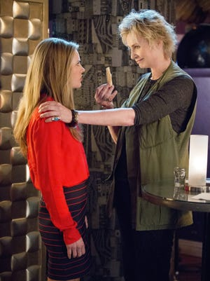 Maggie Lawson, left, and Jane Lynch star in CBS' 'Angel From Hell.'